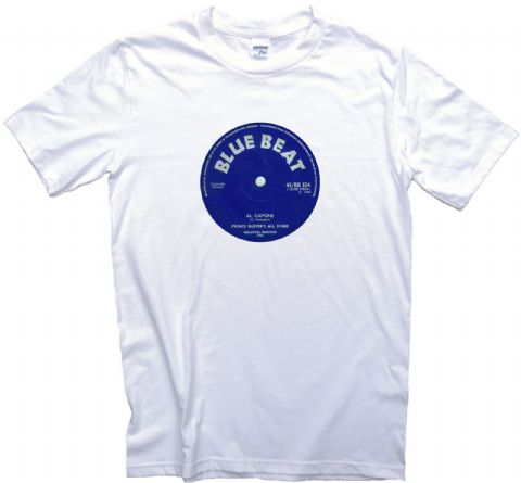 Blue Beat Record Label t shirt 12 Sizes. Prince Buster's All Stars capone Reggae